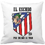 Diver Bebé Cojín con Relleno Atlético de Madrid El Escudo por Encima de Todo - Blanco, 35 x 35 cm