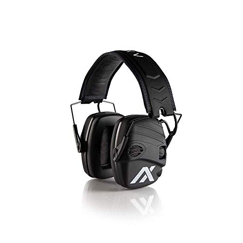 AXIL TRACKR All Purpose Earmuffs | True Noise Isolation, Sweat & Water Resistant with Built-in 2-Directional Microphone, Used for Tactical, Auto Racing, Shooting, Hunting, Industrial, Construction