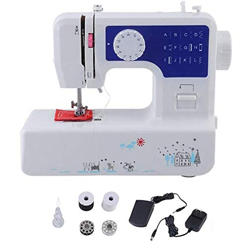 Huishoudelijke Naaimachine, Draagbare Naaimachine Voor Beginners Mini Makkelijk Te Gebruiken Voor Volwassenen En Kinderen Met Voetpedaal
