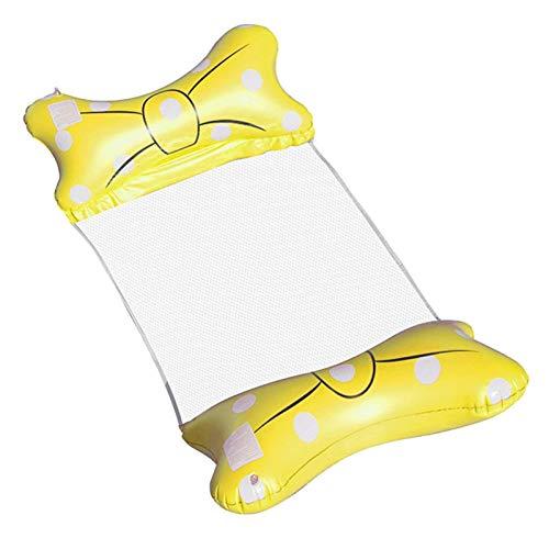Silla de tumbona de flotador de la piscina, piscina inflable plegable Hamaca flotante, hamaca de agua portátil Hamg Mock flotante para piscina Bañera de hidromasaje Playa de verano Diversión Play