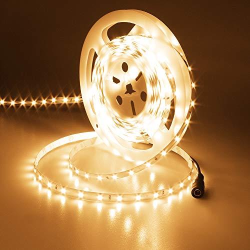 JOYLIT Warm White LED Strip Lights 12V, UL Listed 300LEDs SMD2835 3700lm Bright Dimmable 3000K Flexible LED Tape Light for Bedroom, Living Room, Kitchen, Task Lighting Project