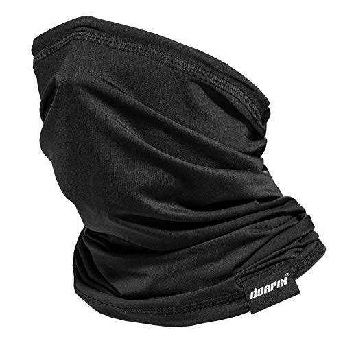 Neck Gaiter Face Mask Reusable, Cloth Face Masks Washable Bandana Face Mask, Sun Dust Protection Balaclava Face Cover Scarf Shield for Fishing Cycling (Black, 1)