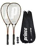2 x Prince Power Vortex Ti raqueta de Squash + Covers + 3 Squash Balls