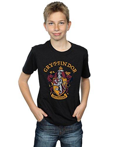 Harry Potter Jungen Gryffindor Crest T-Shirt Schwarz 12-13 Years