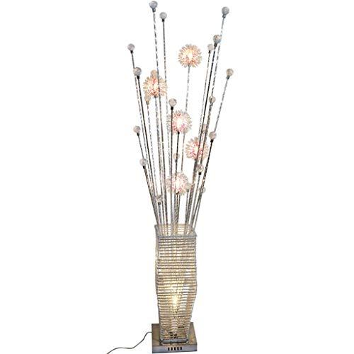 LYB Stehlampe Modern Stehleuchte Stehlampe Bunte Pastoral Persönlichkeit Mode Kreative Wohnzimmer Schlafzimmer Nachttischlampe Blume Aluminium Stehleuchte