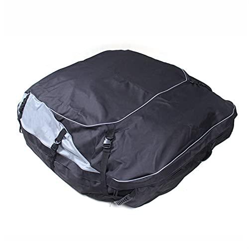 HJUIK Tienda de campaña de gran capacidad con cubierta suave para el techo, almacenamiento de viaje para vehículos SUV con/sin bastidores (color: negro, tamaño: mediano)