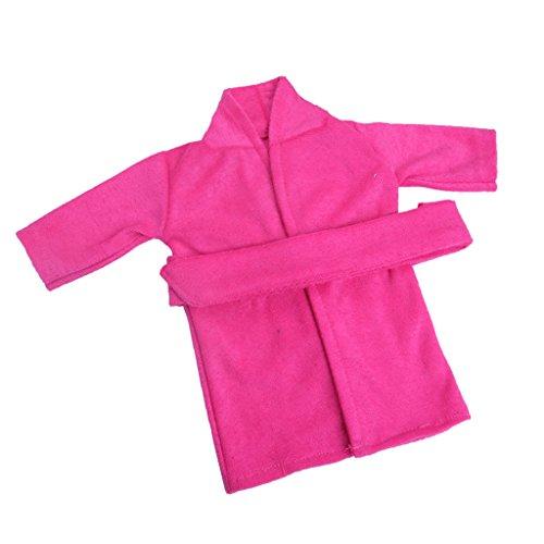 Baoblaze Mode Knopfverschluss Puppen Pyjama Nachtwäsche Nachthemd Für 18