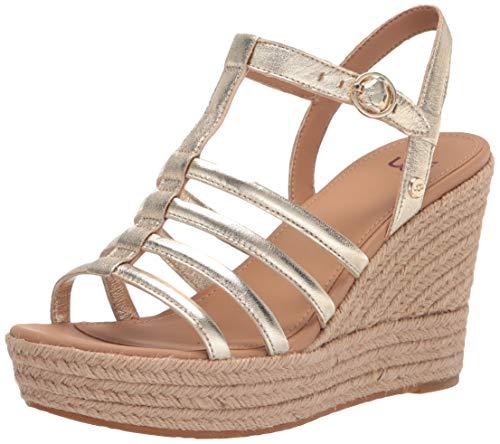 UGG Australia Damen W Cressida Sandale, metallic-goldfarben, 43 EU