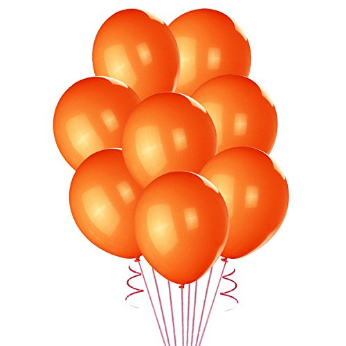 Lokman 12 Inch Ultra Thickness Orange Latex Balloons 100 Piece Per Unit (Orange)