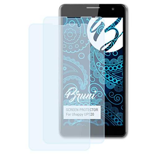 Bruni Schutzfolie kompatibel mit Uhappy UP520 Folie, glasklare Displayschutzfolie (2X)