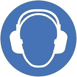 intratec Mandamiento Caracteres Protección auditiva benutzen Seguridad Cartel warnschild 100mm de Auto-Adhesivos PVC operativos Equipamiento