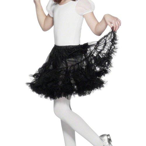NET TOYS Jupon Enfant - Jupon Noir Enfant - Jupe en Tulle - Petticoat Noir - Tutu - Accessoire de Costume Ballerine - Jupe de Danse