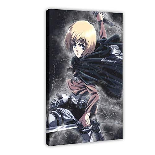 Póster japonés de manga de Ataque sobre Titan Armin Arlert, 1 póster de lienzo, decoración de dormitorio, paisaje, oficina, decoración de habitación, marco de regalo, 30 x 45 cm