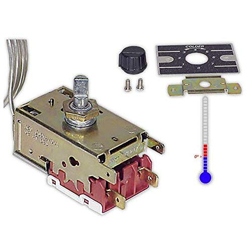 DOJA Industrial | Termostato frigorífico BOTELLERO K50 L3048 | B=120 cm (-1/+4|+3/+8) ambiente | Termostato para botellero de bar