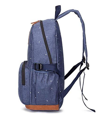 41iLdm3uOlL - HFY Mujer Mochila Impermeable, Mochila para portátil Multiusos Daypacks 15.6 Pulgadas, para Negocio,Viaje,Escuela,Hombre Mujer Trabajo Diario (Azul)