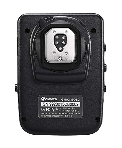 Solmeta GMAX-EOS2 Geotagger GPS Receiver with Bluetooth Control Shutter Release, Compatible with Canon GP-E2 and More, Communicate with EOS DSLR, EOS Rebel and EOS R & RP Mirrorless Cameras