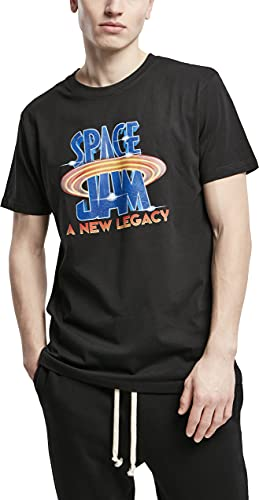 Mister Tee Space Jam Logo tee Camiseta, Negro, S para Hombre