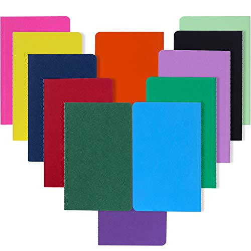 XYark Small Pocket Colorful Notebook Journal Bulk, Blank, Travel Journal Set for Traveler, Kids, Students and Office, Plain Writing Drawing Sketchbook Diary Subject Notebooks, 3.5×5.5 inch, 12 Pack