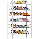伸縮シューズラック フレーム6段 24-48足コンパクト 組立品 靴棚 靴収納 玄関収納 省スペース 大容量 ホワイト