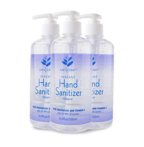 Mellow Hand Sanitizer Gel | Hand Sanitizer with Pump | 75%...