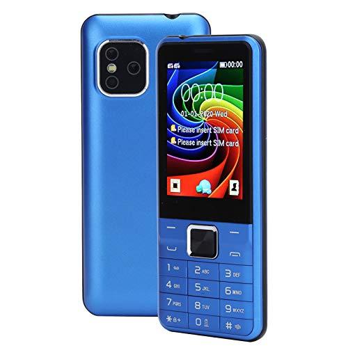 PUSOKEI Mini teléfono móvil de 2.8 Pulgadas 2G Teléfono móvil para Personas Mayores - GPRS/BT / MP3 / MP4 / Multifunción FM inalámbrica - 32MB + 32MB / Dual SIM/Cámara Frontal de 0.08MP (Azul)
