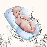 LXYFC Badewannen-Babyparty Trägermatte, schwimmend weiche Baby-Badewanne Kissen Lounger Newborn Pad Tub Kissen Comfort Bionic Breathable Adjustable Buckle-A