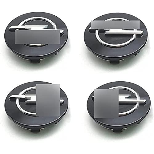 4 Piezas Tapas Centrales para Opel Astra H G J Insignia Mokka Zafira Corsa 63mm, Tapacubos de Cromado para Llantas Abs PláStico Accesorios Universales para El Coche