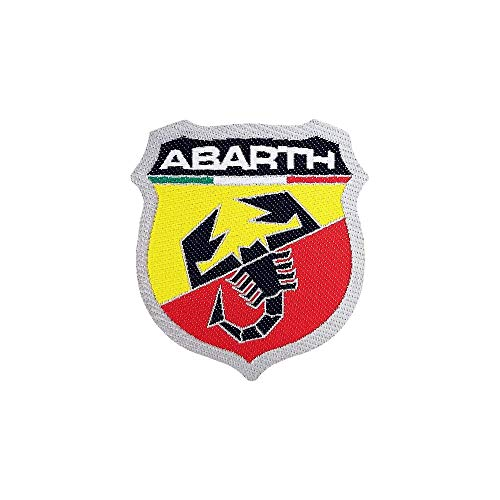 4R Quattroerre.it 21560 Parches Adhesivos Oficiales Abarth Escudo, 48 x 51 mm
