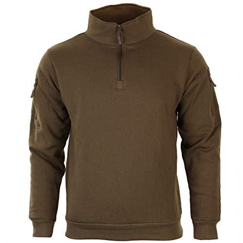 Mil-Tec Tactical Sweat-Shirt m.Zipper Dark Coyote Gr.M