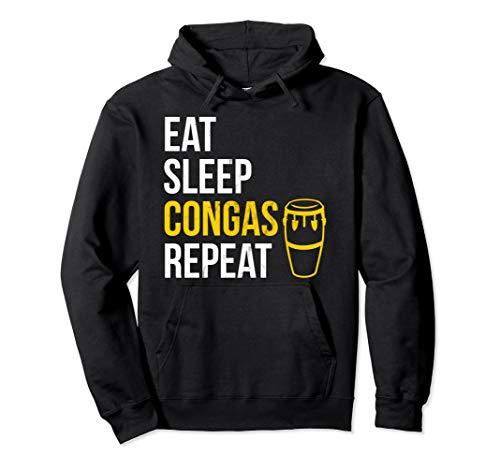 Essen Sie, schlafen Sie, spielen Congas, Wiederholen Pullover Hoodie