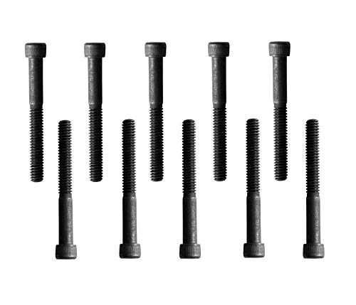 Socket Head Cap Screw, 1/4-20 x 2', Alloy Steel, Black Oxide, Hex...