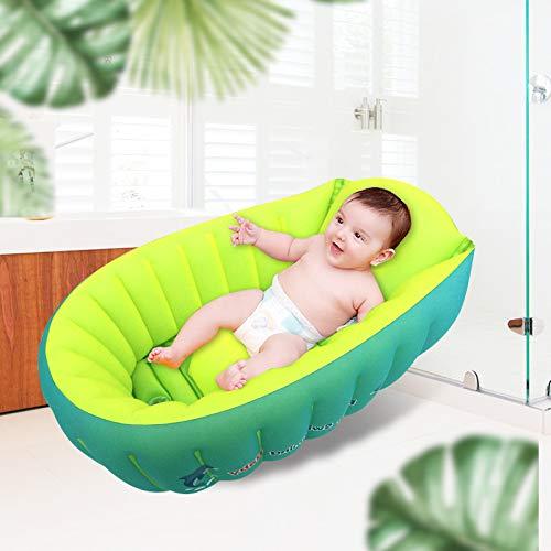 Thickened Inflatable Baby Bathtub, Anti- Slip Toddler...