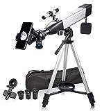 Telescopio Astronómico para Adultos Principiantes 20x-167x con Soporte para Teléfono 3X Lentes Barlow K9 K17.5 K25mm Ocular, Alta Potencia para Observación de Aves en la Luna