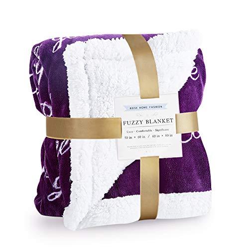 RHF Sherpa Blanket w/Words of Warm Hug, Family, Friendship, Positive Energy Healing...
