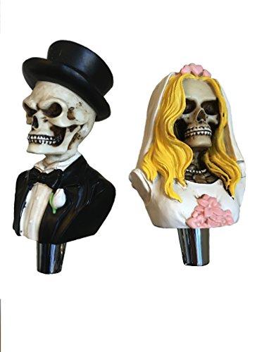Dead Bride And Groom - Juego de mango para grifo de cerveza con diseño de calavera para Kegerators y Bar, esqueleto muerto, caminar