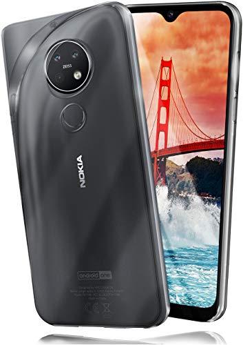 moex Aero Hülle kompatibel mit Nokia 6.2 / Nokia 7.2 - Hülle aus Silikon, komplett transparent, Klarsicht Handy Schutzhülle Ultra dünn, Handyhülle durchsichtig einfarbig, Klar
