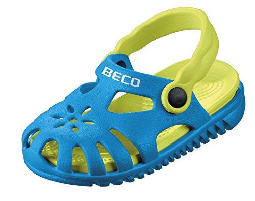 Beco Unisex-Kinder Kindersandalen-90026 Slingback Sandalen, Blau (Blau 6), 23 EU