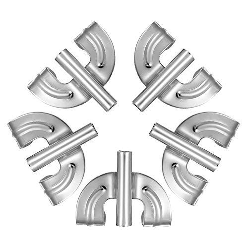 XIAOFANG 5Pcs Metallgreifer Hooks Bass Drum Lug Fit for Snare Drum Set-Teile Zubehör Ersatz (Color : Silver)