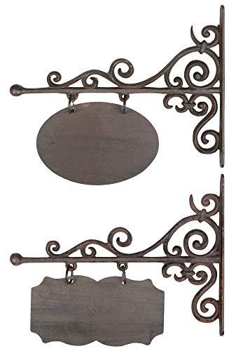 Esschert Design Petite Plaque Murale rectangulaire ou Ovale 32 x 3 x 26 cm