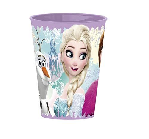 Familienkalender ELSA, Anna und Olaf Becher, kompatibel zu Disney Die Eiskönigin Frozen, Tasse für Kinder 260ml im Set Mikrowellenfest (4 Stück)