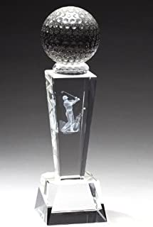 Crystal Golf Trophy with Free Engraving (Customize Now!)