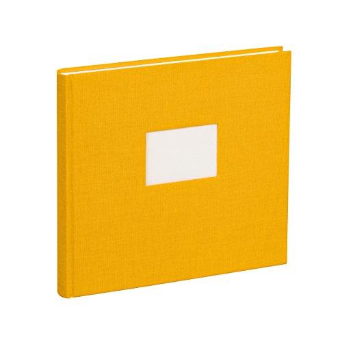 Semikolon (353518) Gästebuch mit 240 blanko Seiten sun (gelb) - Gäste-Buch mit Buchleinenbezug -...