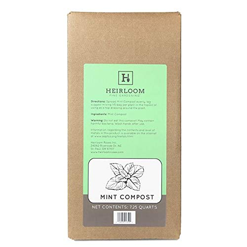100% Natural Mint Compost 7.25 Quart Box by Heirloom Fine