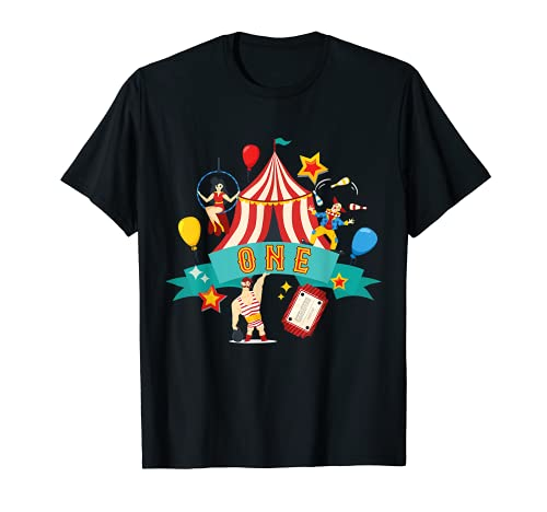 1 ao de edad Circus Performer 1st Birthday Carnaval Payaso Beb Camiseta