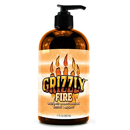 Nature Lovin' Grizzly Fire Water Based Warming Personal Lubricant, 17 oz Glycerin and Paraben Free