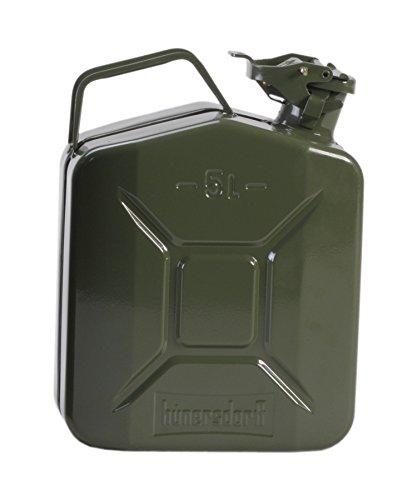 hünersdorff GmbH 434400 Nourrices à Carburant Métalliques Classic Kaki, laqué,5 L