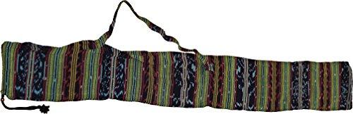 Tasche für Didgeridoos aus Ikatstoff (verschiedene Groessen wählbar) (für-Didges-von-150-160-cm)