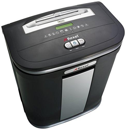 Rexel Mercury RSM1130 Aktenvernichter 2102407EU (für Kleinbüros, Mikroschnitt, Manueller Einzug, 30L Entnehmbarer Abfallbehälter, 11 Blatt Kapazität) schwarz