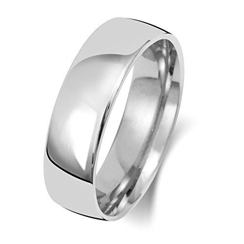 Platin 950 6mm Slight Court Form Herren/Damen - Trauring/Ehering/Hochzeitsring WJS15127PT950