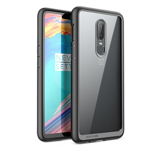 SUPCASE Unicorn Beetle Style Series Designed for OnePlus 6 Case,Premium Hybrid Protective Clear Case for OnePlus 6 2018 Release, Retail Package (Black)